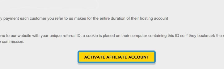 Activating your affiliate/reseller account: